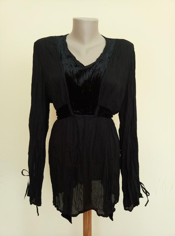 Красивая блузочка с бархатной вставкой - Фото 2