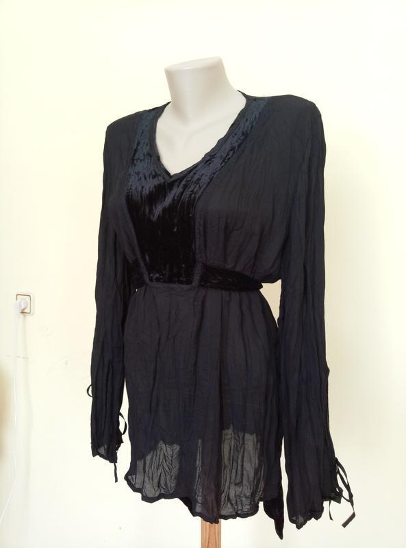 Красивая блузочка с бархатной вставкой - Фото 3