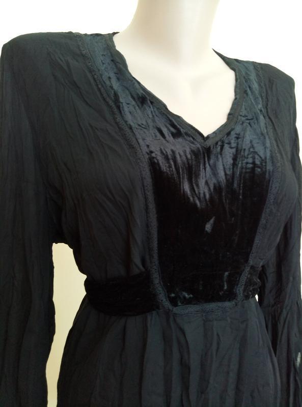 Красивая блузочка с бархатной вставкой - Фото 5