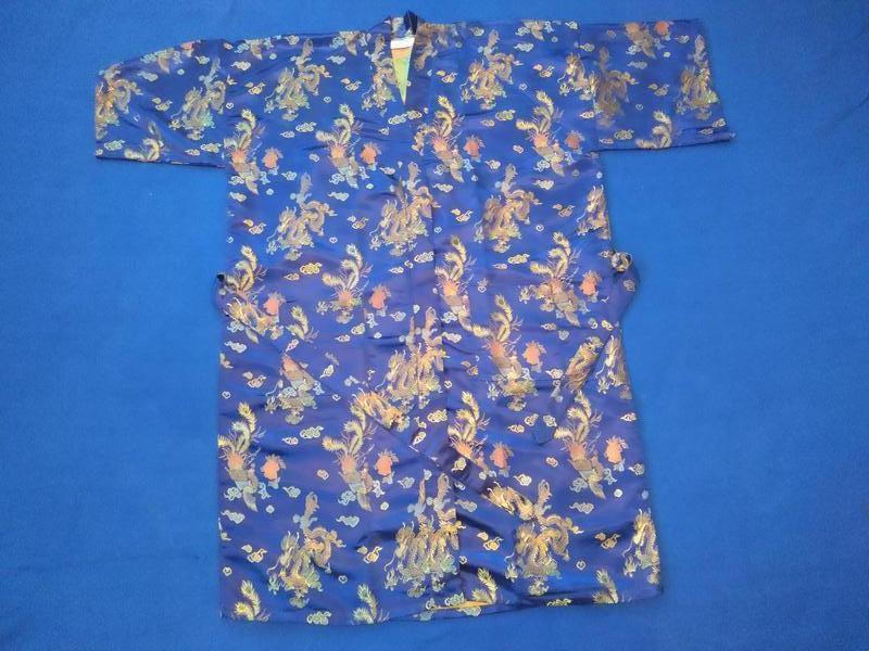 Роскошный атласный халат - кимоно - Фото 3