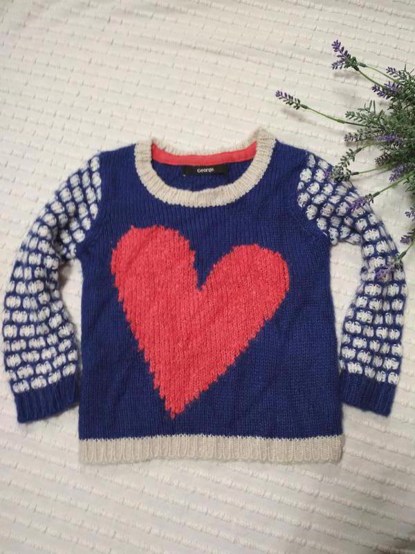 Отличный теплый свитер кофта от george,  p. на 2-3 года