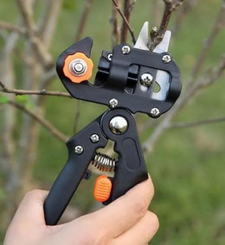 Секатор ножницы прививочный, 3ножа для прививки деревьев