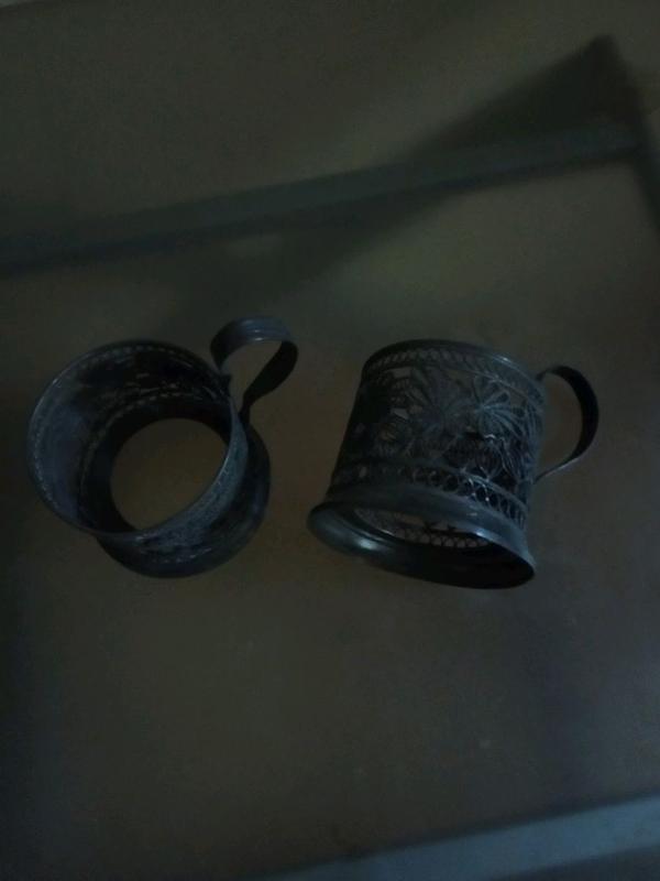 Подстаканники мельхиоровые производства СССР