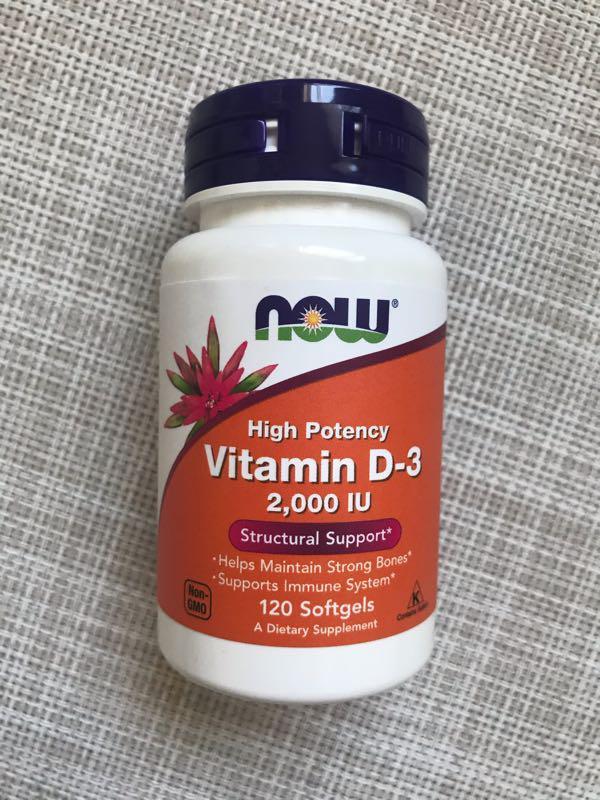Now Foods , Витамин Д3 , D3 , Д3 2000 me , 120 шт