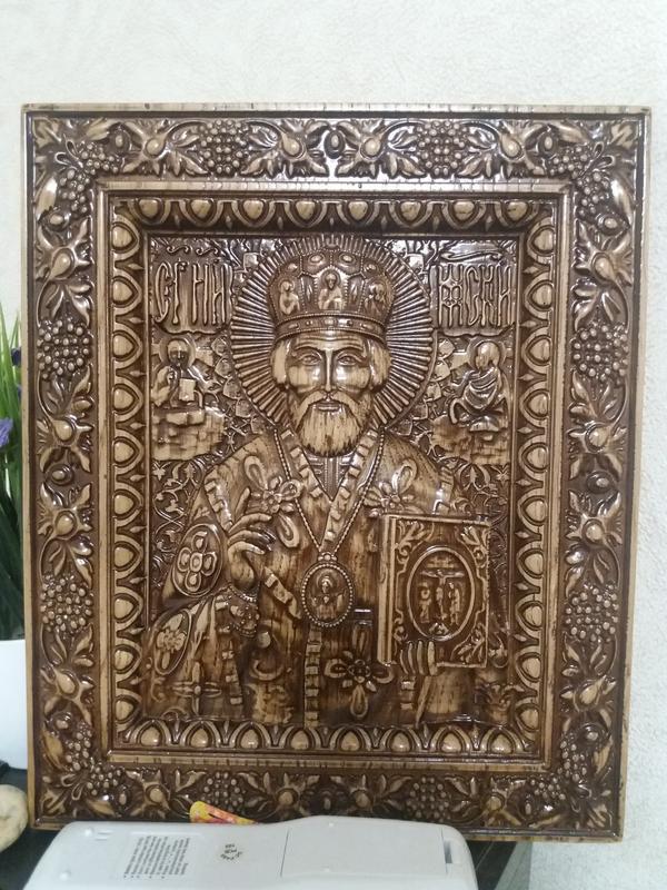 Икона резная Святой Николай Чудотворец