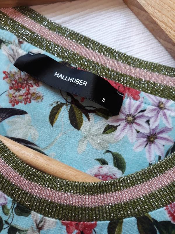 Hallhuber фирменная футболка#топ#блуза#майка в цветы#цветочный... - Фото 2