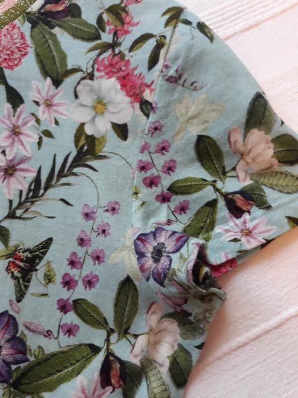 Hallhuber фирменная футболка#топ#блуза#майка в цветы#цветочный... - Фото 4