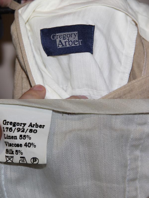 Брюки лён лен штаны gregory arber - Фото 4