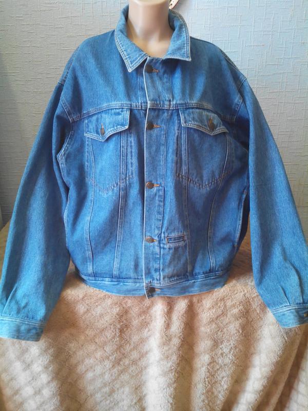Объемная джинсовая куртка megarland унисекс мужская женская .