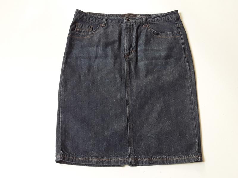 Джинсовая юбка карандаш - Фото 2