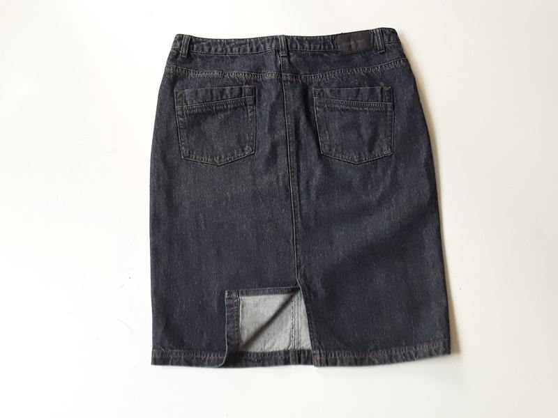 Джинсовая юбка карандаш - Фото 3