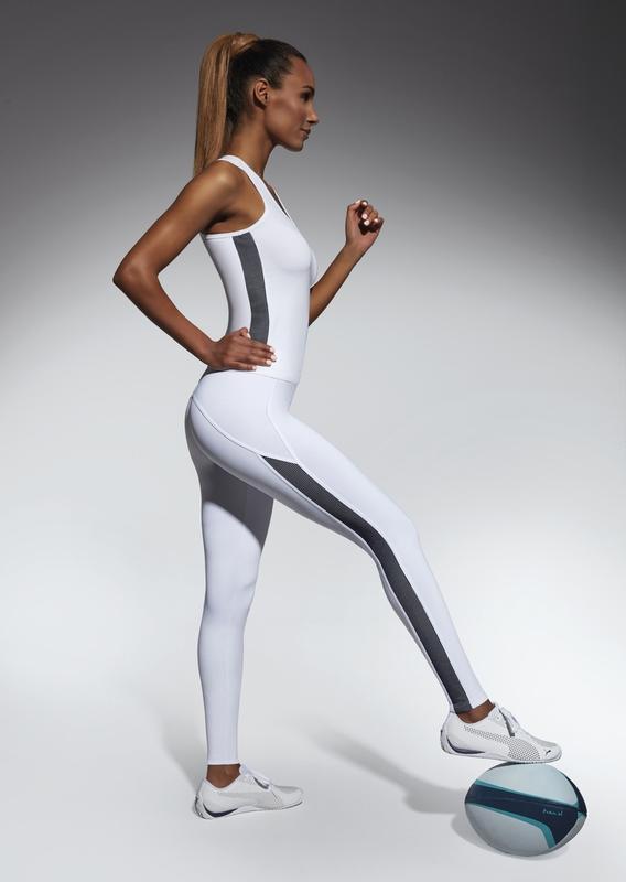 Женский костюм для фитнеса bas bleu imagin белый с черным