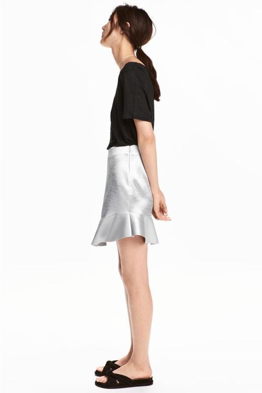 Невероятная юбка с воланами из плотной ткани от h&m - Фото 5