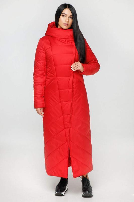 Пуховик-одеяло favoritti лаке тон 76 красный, р.48 наш полноме...