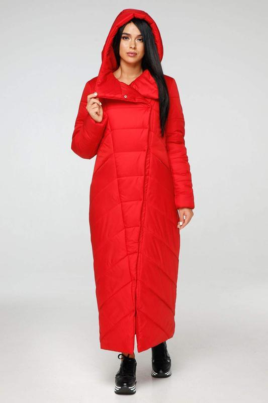 Пуховик-одеяло favoritti лаке тон 76 красный, р.48 наш полноме... - Фото 3