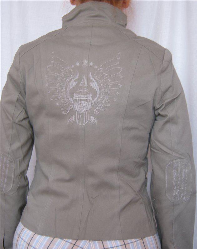 Куртка-пиджак котон, вышивка р.xl- наш 46, 4 цвета