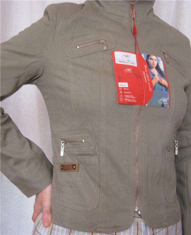Куртка-пиджак котон, вышивка р.xl- наш 46, 4 цвета - Фото 2