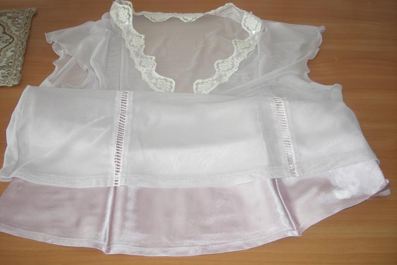 Шикарная двухслойная блуза next р.42 - наш 48 - Фото 5