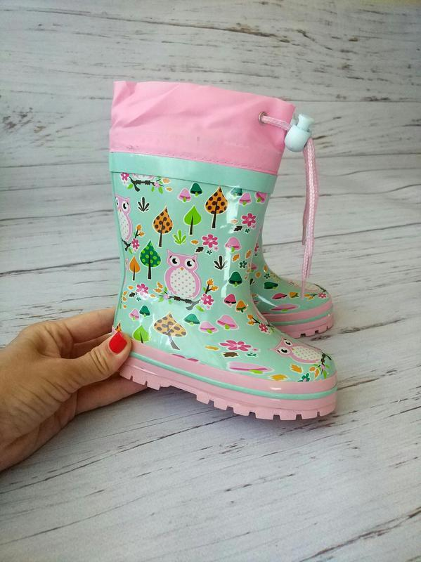 Детские резиновые сапоги для девочек kimboo