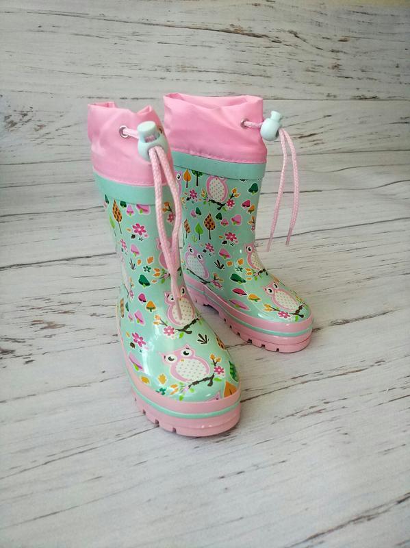 Детские резиновые сапоги для девочек kimboo - Фото 2
