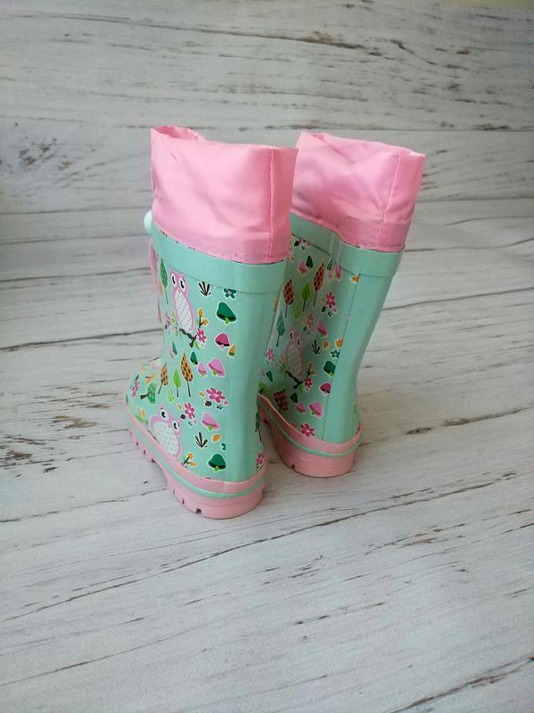 Детские резиновые сапоги для девочек kimboo - Фото 3