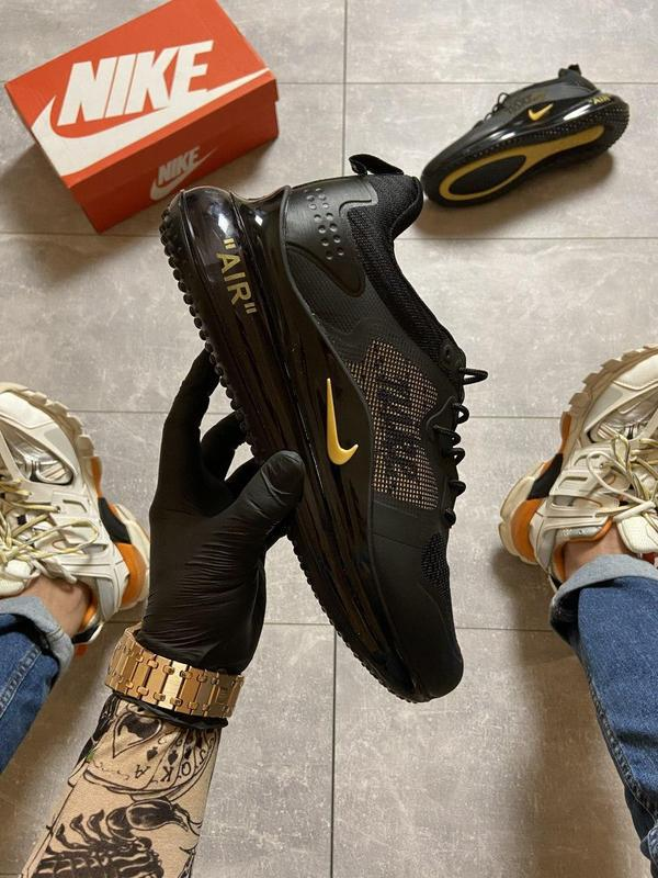 Nike air max 720 black gold. - Фото 3