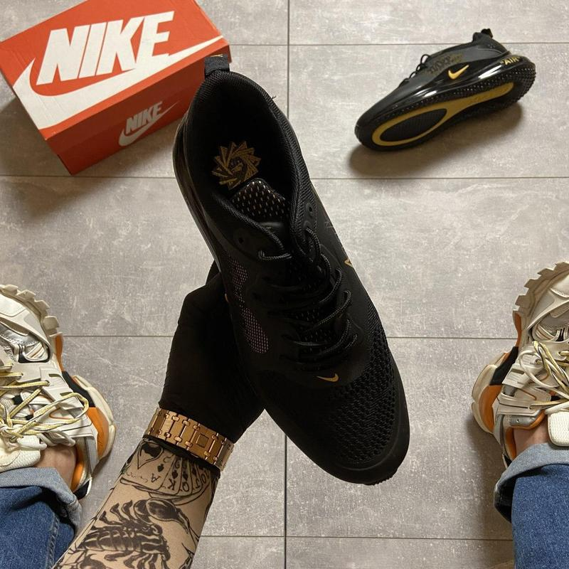 Nike air max 720 black gold. - Фото 4