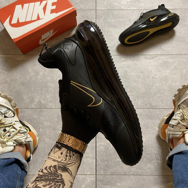 Nike air max 720 black gold. - Фото 7
