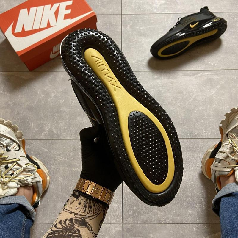 Nike air max 720 black gold. - Фото 8