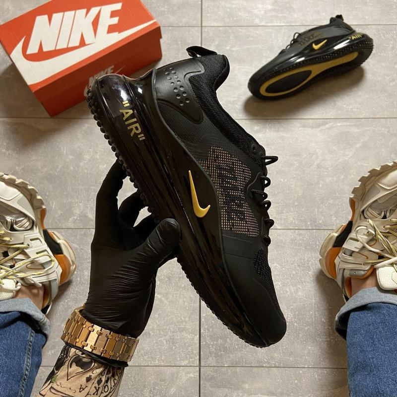 Nike air max 720 black gold. - Фото 10