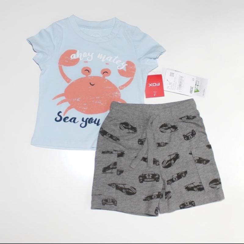 Фирменный комплект для мальчика, футболка + шорты, новый