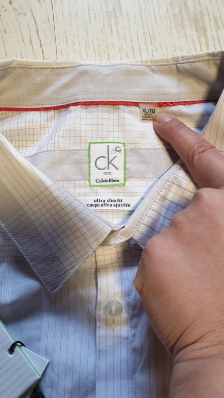 Легкая натуральная рубашка calvin klein - Фото 4