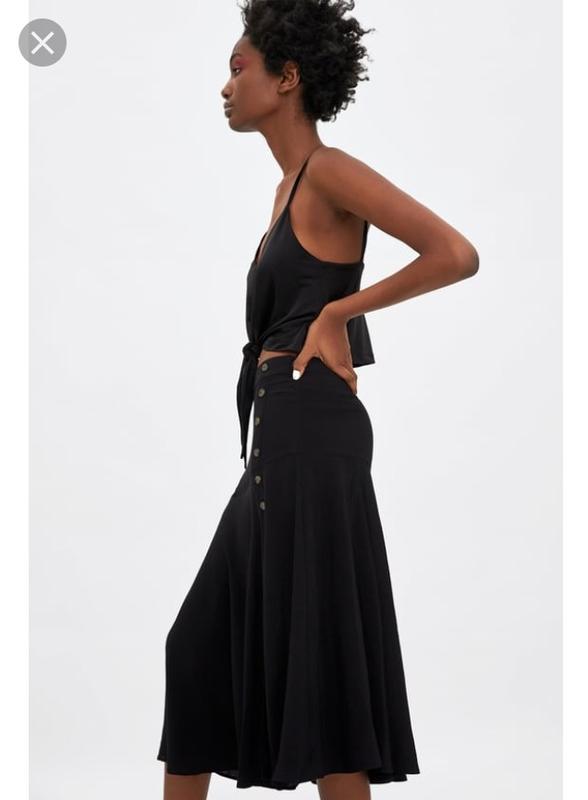 Стильная новая юбка zara . 100% вискоза - Фото 2