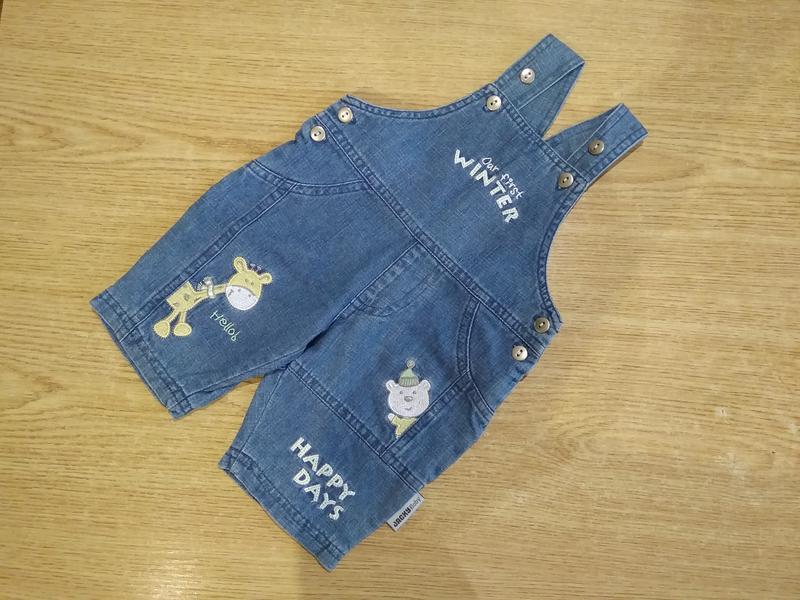 Джинсовые шортики jacky baby шорты комбез - Фото 2
