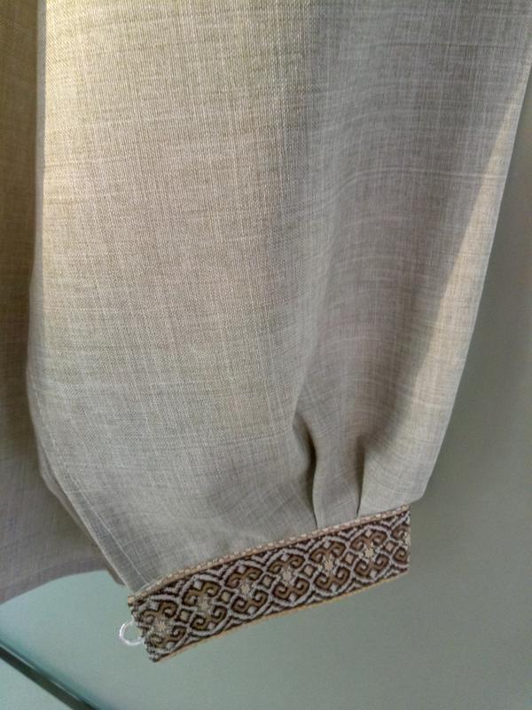 Мужская вышиванка лен,размер 56 - Фото 4