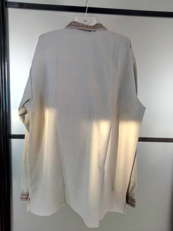Мужская вышиванка лен,размер 56 - Фото 5