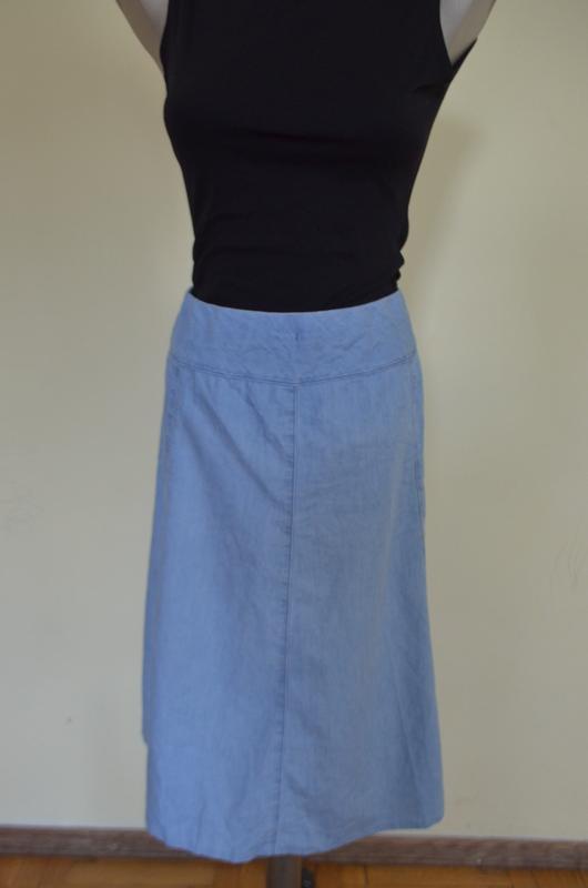 Очень классная легкая джинсовая юбка - Фото 2