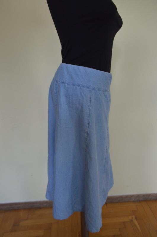 Очень классная легкая джинсовая юбка - Фото 3