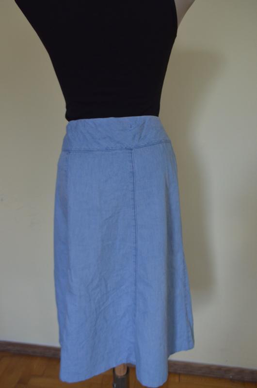 Очень классная легкая джинсовая юбка - Фото 4