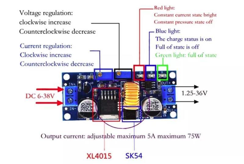 Модуль зарядки аккумуляторов Li-Ion литий-ионных блок питания