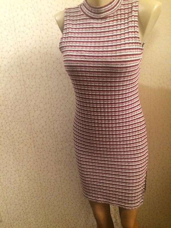 Актуальное платье в рубчик полоску miss selfridge - Фото 2