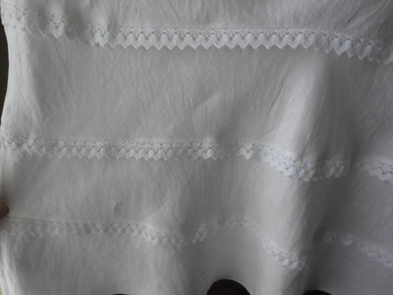 Юбочка белая с кружевом (лен) - Фото 3