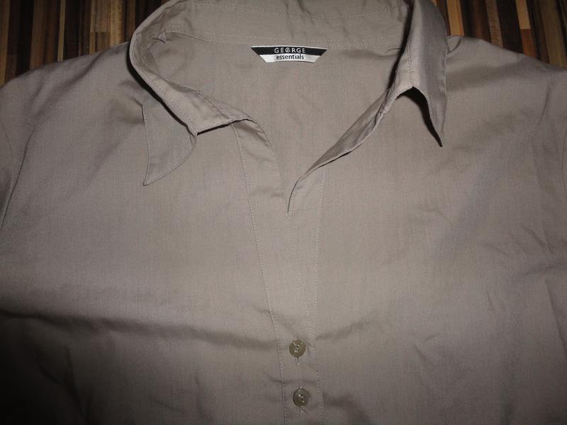 Рубашка  кофейного цвета - Фото 2