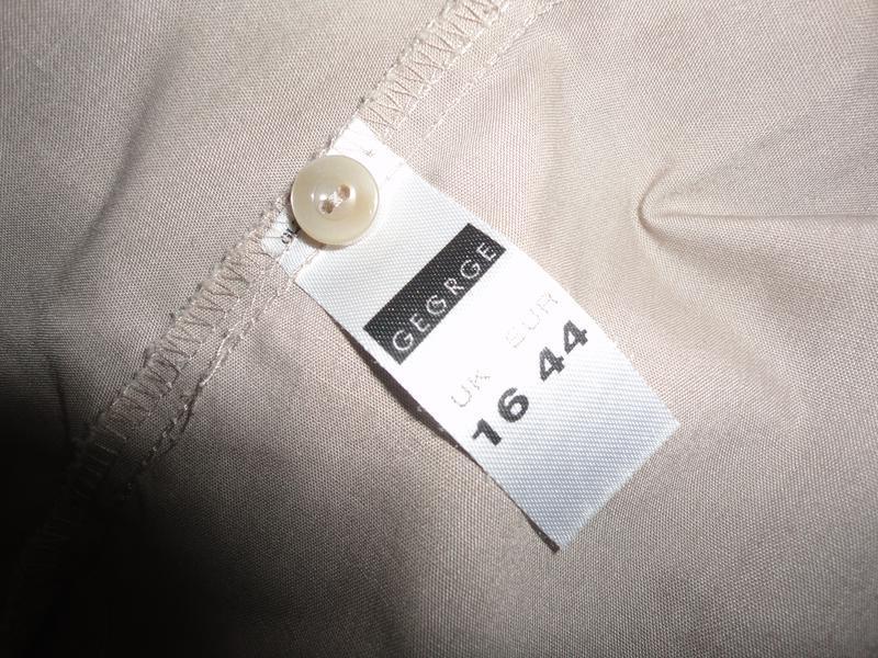 Рубашка  кофейного цвета - Фото 3