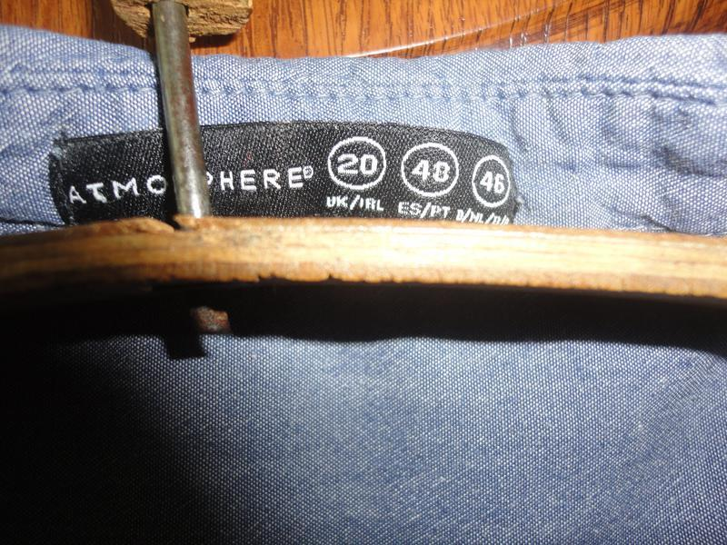 Джинсовая блуза размер 20 - Фото 3