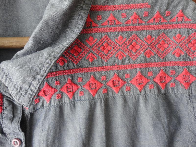 Джинсовая блуза размер 20 - Фото 4
