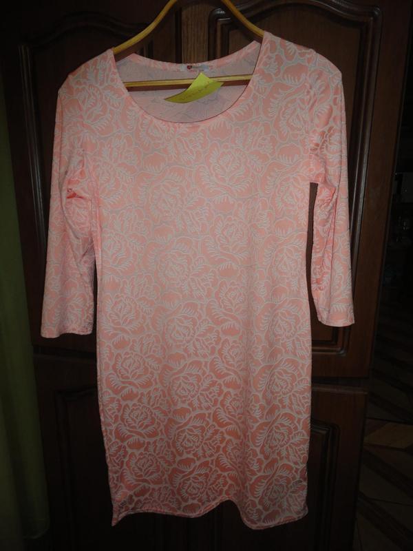 Нежное платье с жаккардовым узором - Фото 2