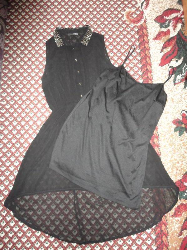 Шифоновое черное платье - Фото 2