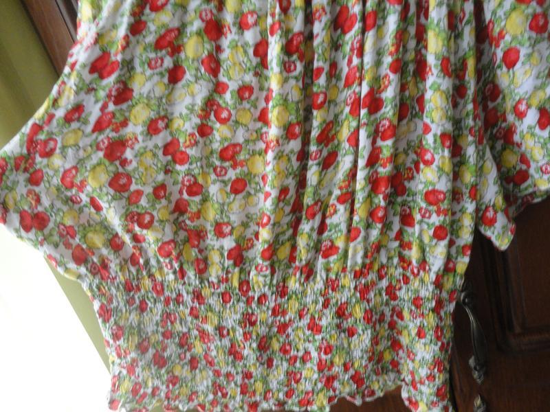 Яркая вискозная блузочка - Фото 2