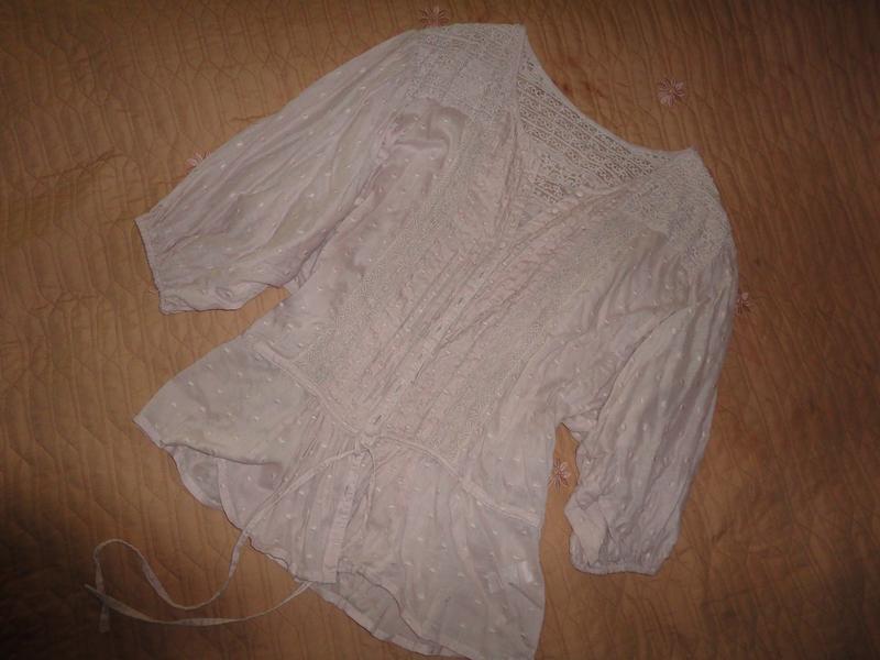 Нежная пудровая блузка